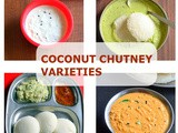 15 Coconut Chutney Recipes – Coconut Chutney Varieties For Idli, Dosa