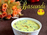 Basundi-indian dessert recipes