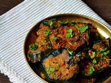Brinjal Fry Recipe/Eggplant Roast For Rice