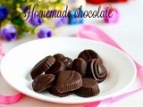 Easy homemade chocolate recipe-how to make chocolate at home with 3 ingredients