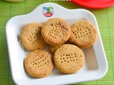 Eggless Wheat Flour Jaggery Cookies – Sugar Free Cookies