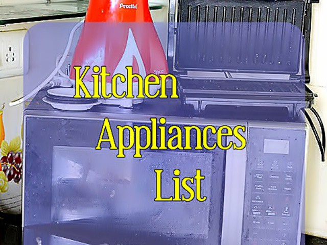 kitchen appliances list for