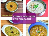 Kurma Recipes – 20 South Indian Kurma Varieties - Side Dish For Chapathi, Dosa