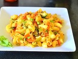 Macaroni Upma Recipe – Indian Style Macaroni Recipes With Vegetables