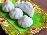 Modak Recipe With Step By Step Pictures - North Indian Ukadiche Modak Recipe