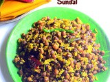 Senaga Guggillu Recipe – Brown Chana Sundal / Kala Chana Sundal
