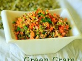 Sprouted Green Gram Salad – Sprouts Salad Recipe