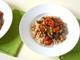 Barley Bowl with Spiced Aubergine, Chickpeas and Tomatoes
