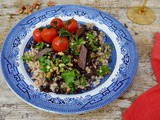 Barley Lentil Dinner with Walnut Gremolata and Roasted Tomatoes