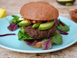 Black Chickpea & Red Quinoa Burgers with Prunes