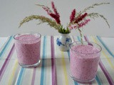 Blueberry Kefir Smoothie Flavoured with Rose & Good for Your Gut