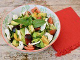 Caprese Salad Bowl with Tomato, Mozzarella & Avocado for One