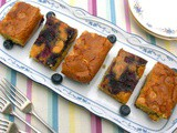 Caramelised Blueberry Blondies