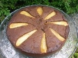 Caramelised Pear, Honey and Carob Cake - Random Recipes #29