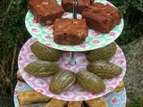 Chococo Brownies and Matcha Madeleines