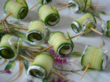 Cucumber Roll-Ups with a Garlicky Feta & Mint Filling