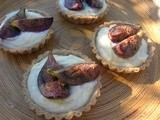 Fig, White Chocolate and Mascarpone Tarts