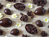 Homemade Easter Eggs with Dark Chocolate Salted Caramel Popcorn