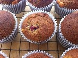 Lactofree Raspberry, Poppy Seed and White Chocolate Muffins