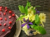 Lavender Chocolate Goose Egg Cake for Mother's Day