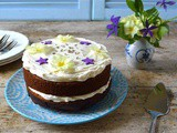 Lavender Honey Cake with a Scent of Lemon & Honey Cream Cheese Icing