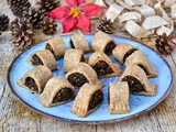 Mushroom & Chestnut Vegetarian Sausage Rolls with Mustard Pastry