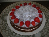 Orange and Strawberry Chocolate Cake