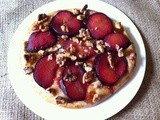 Plum and Walnut Pizza