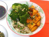 Quinoa Bowl With Broccoli & Pumpkin Three Ways