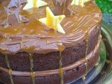 Salted Caramel Chocolate Birthday Cake