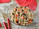 Sicilian Pasta Salad with Tomatoes, Olives & Fresh Herbs