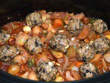Slow Cooker End of Season Vegetable Stew with Mushroom Dumplings and a Giveaway #66