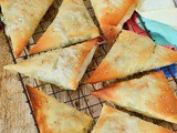 Spanakopita – Wild Greens and Feta Filo Parcels