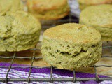 Spelt Scones with Health Giving Kefir, Matcha Green Tea & Honey