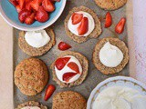 Spelt Strawberry Shortcakes with Lemon & Thyme