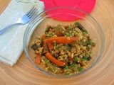 Spiced Roasted Summer Vegetable Salad with Millet, Peas and Lentils