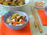 Thai Green Curry with Jasmine Rice and Cashew Nuts