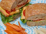 Tofu Lettuce Tomato Sandwich, a New Vegan Cookbook & a Giveaway