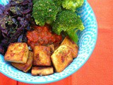 Vegan Rice Bowl with Maple Tofu and Smoked Tomato Sauce