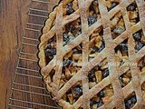 Crostata mele e mirtilli rossi- Apples and cranberry tart