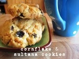Cornflake and sultana cookies