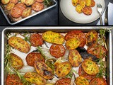 Oven-Roasted Potatoes and Tomatoes