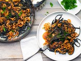 Squid Ink Pasta with Seafood