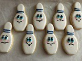 Bowling Pin Cookies