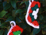 Granny Square Christmas stocking ornament