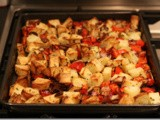 Potato, Red Pepper and Onions