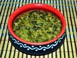 Arachu vitta keerai(Greens cooked with coconut paste)