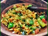 Arisi pori upma (Puffed rice upma)