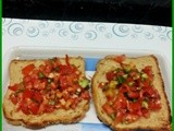 Bruschetta with multigrain bread