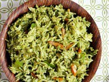 Coriander Rice Recipe | Indian Cilantro Rice Recipe
